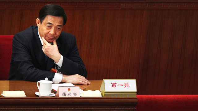 PHOTO: China's Chongqing Municipality Communist Party Secretary Bo Xilai attends the third plenary meeting of the National People's Congress (NPC) at The Great Hall Of The People on March 9, 2012 in Beijing, China.