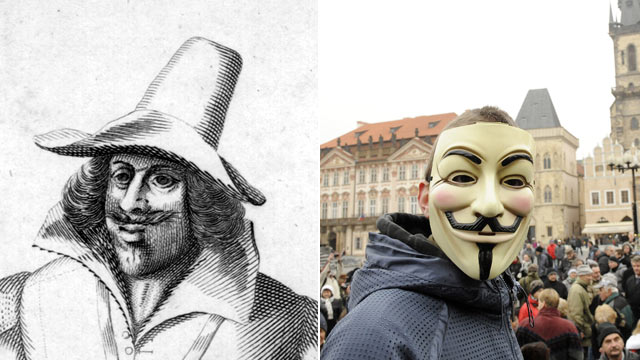 behind the mask guy fawkes day photos   abc news
