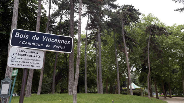 PHOTO: The entry point of the Bois de Vincennes park in Paris is seen, June, 18, 2012.