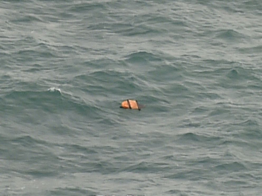 PHOTO: This aerial view shows floating debris spotted in the same area of the Java Sea as other items being investigated by Indonesian authorities as possible objects from missing AirAsia flight QZ8501, Dec. 30, 2014.