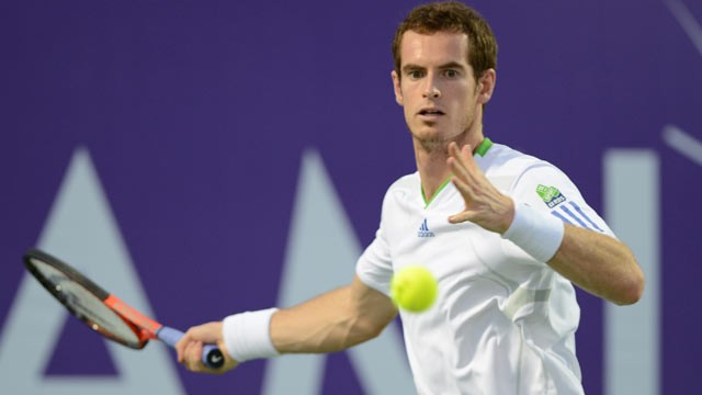 PHOTO: Andy Murray participates in the inaugural Miami Tennis Cup at Crandon Park Tennis Center on Dec. 1, 2012, in Key Biscayne, Fla.