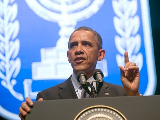 Obama Stands Firm on Mideast Two-State Solution
