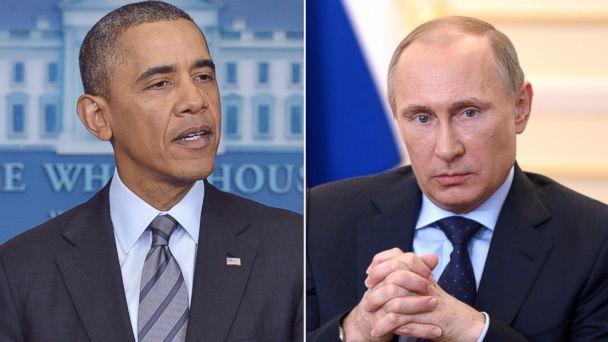 gty barack obama vladimir putin wy 140306 16x9 608 Ukraine Crisis Tests Obama and Putins Already Rocky Relationship