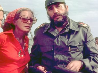 PHOTO: Barbara Walters interviewed Cuban president Fidel Castro as they crossed the Bay of Pigs on an ABC News Special airing June 9, 1977.