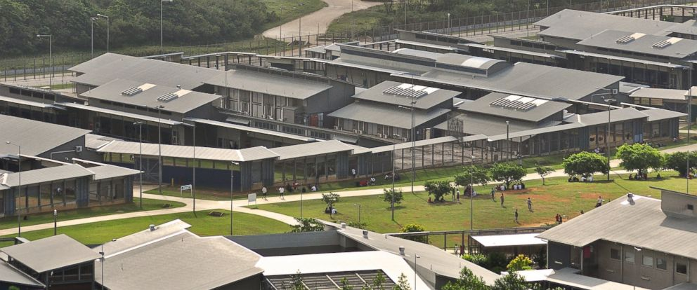 PHOTO: A file photo shows a general view of asylum seekers and facilities at Christmas Island Detention Centre, on July 26, 2013 on Christmas Island.