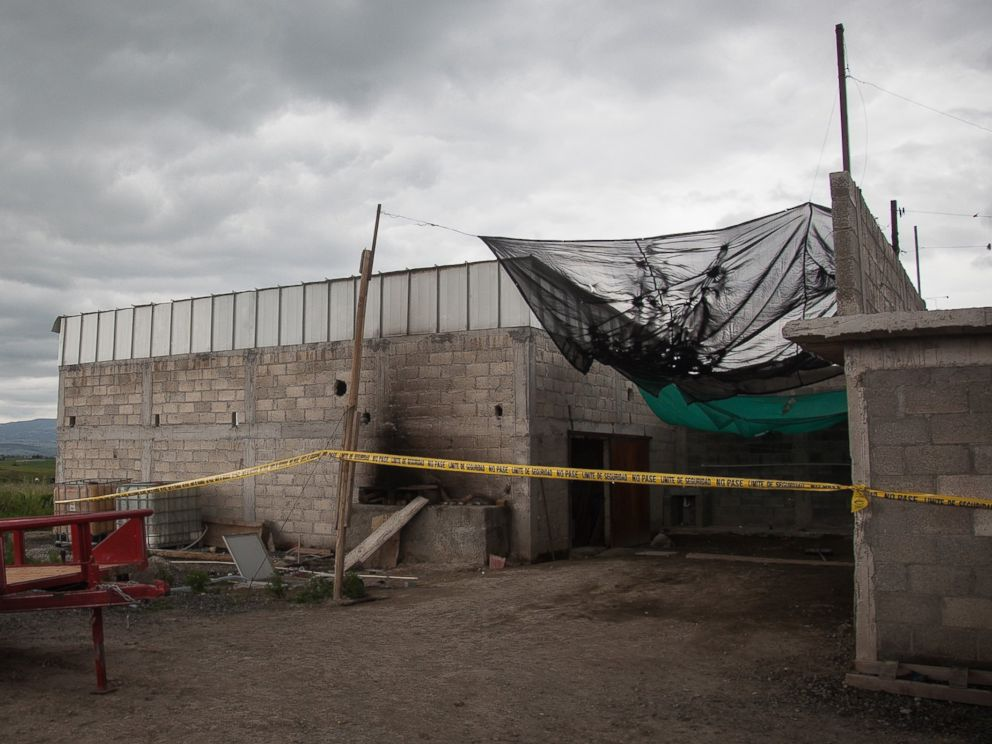 PHOTO: Exterior view of a half-built house used by El Chapo to escape from prison near the maximum security prison of Altiplano in Almoloya de Juarez, state of Mexico on July 12, 2015.