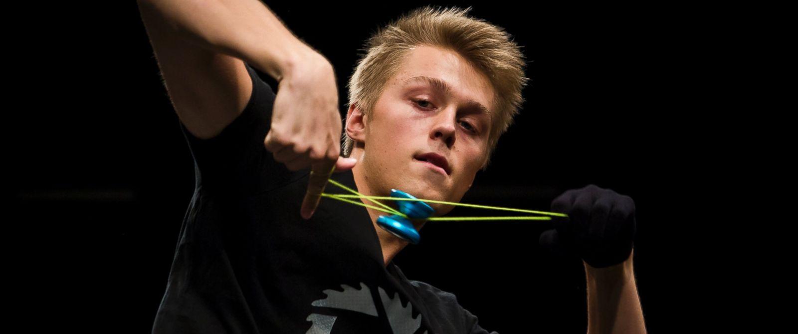 PHOTO: Gentry Stein, Yo-Yo World Champion, during the 2014 World Yo-Yo Contest in Prague, Czech Republic, Aug. 9, 2014.