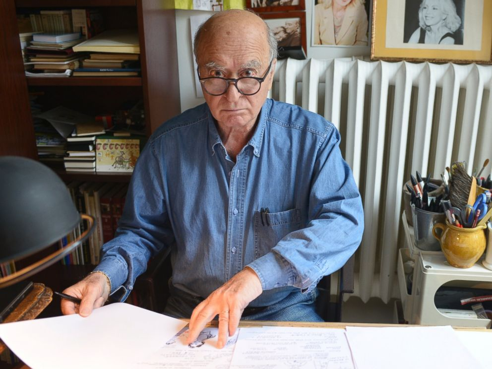 PHOTO: Georges Wolinski, French cartoonist during portrait session held on Sept. 4, 2014 in Paris.