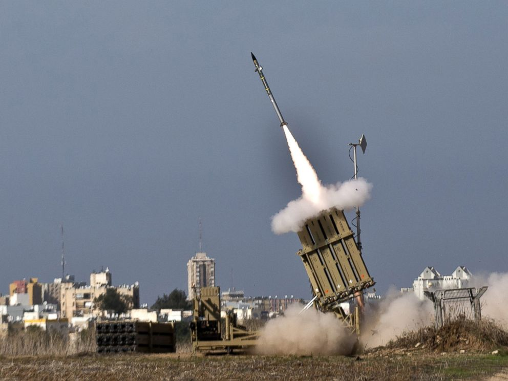 PHOTO: An Israeli missile is launched from the Iron Dome defence missile system in the southern Israeli city of Ashdod in response to a rocket launched from the nearby Palestinian Gaza Strip on November 18, 2012.