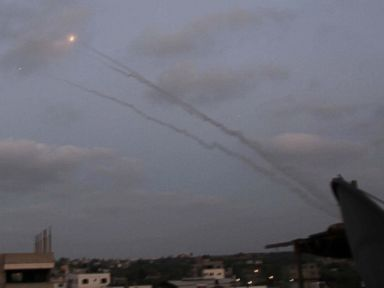 PHOTO: At least eight rockets were fired from the Gaza Strip into southern Israel, July 7, 2014.