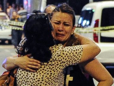 PHOTO: Passengers who survived the suicide bomb attack leave Turkeys largest airport, Istanbul Ataturk, June 28, 2016.