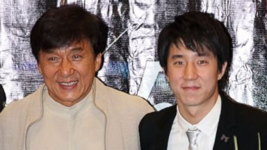 "PHOTO: Actor Jackie Chan and his son Jaycee Chan attend the ""Double Trouble"" premiere on June 5, 2012 in Beijing, China."
