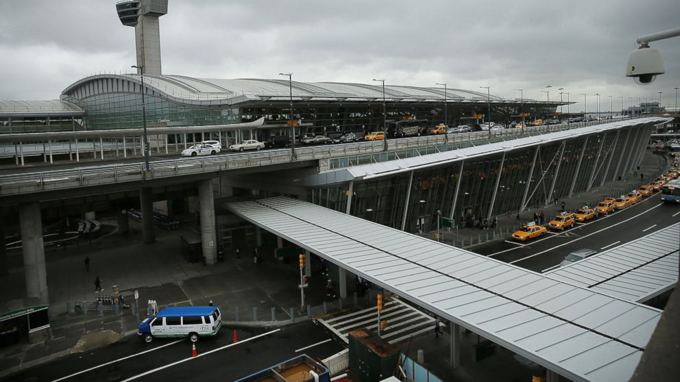 PHOTO: The international arrivals terminal is viewed at New Yorks John F. Kennedy Airport, Oct. 11, 2014, in New York.