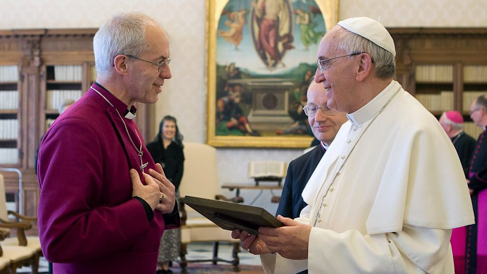 PHOTO: Justin Welby and Pope Franc