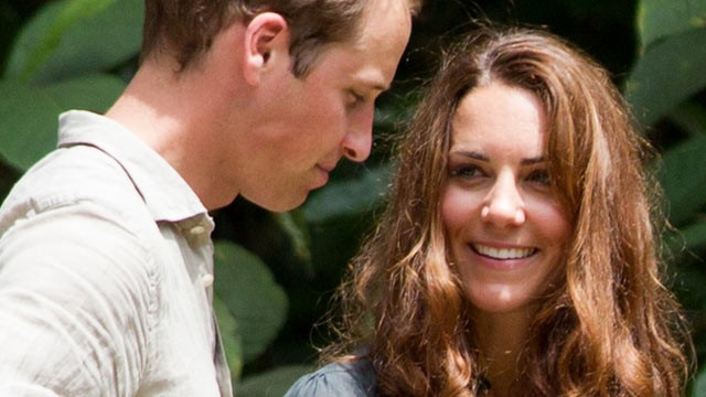 PHOTO: Britain's Prince William and Catherine, the Duchess of Cambridge, speak to each other during their visit at the Borneo Rainforest Lodge in Danum Valley, some 44 miles west of Lahad Datu, on the island of Borneo, Sept. 15, 2012.