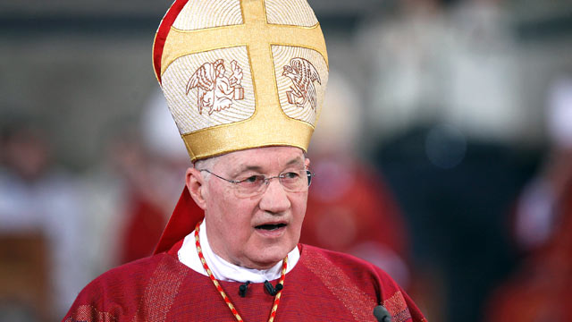 PHOTO: Cardinal Marc Ouellet holds a mass in celebration of The Pilgrimage of the Holy Robe at the Cathedral of St Peter, April 13, 2012 in Trier, Germany.