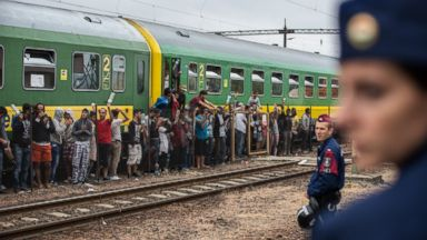 Migrant Crisis Stretches to Hungarys Rails, Train Stations