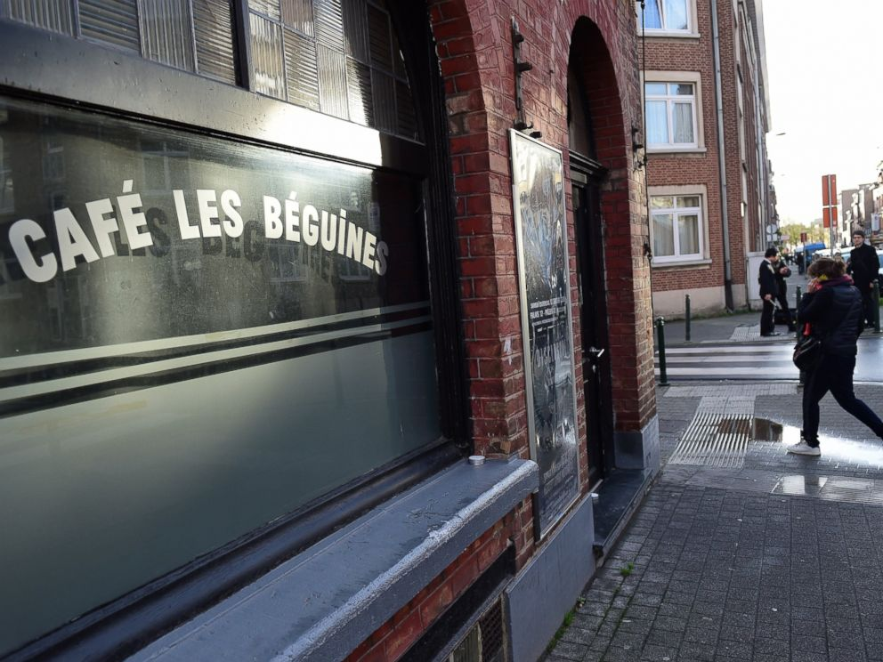 PHOTO: This picture shows a general view of the Les Beguines bar own by Ibrahim Abdeslam, one of three brothers implicated in Paris attacks stands closed in Brusselss Molenbeek district, on Nov. 17, 2015.