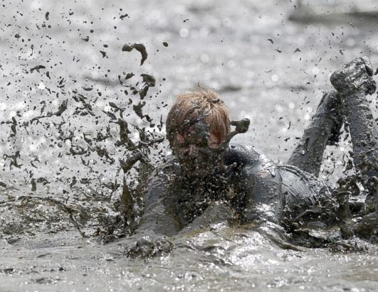 Mud Flats Olympics in Germany