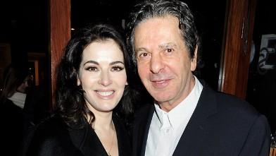 Nigella Lawson (L) and Charles Saatchi attend a dinner hosted by Joseph Group CEO Sara Ferrero and Vogue UK editor-at-large Fiona Golfar at Joe's Restaurant on January 19, 2012 in London.