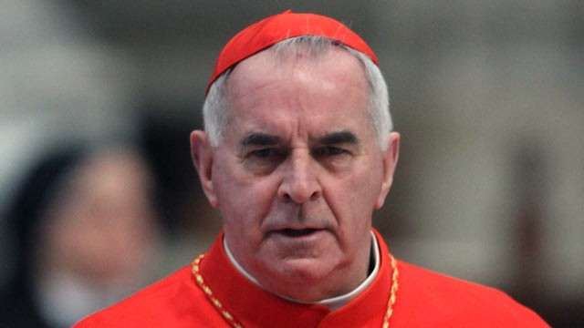 PHOTO: Cardinal Keith O'Brien, archbishop of Saint Andrews and Edinburgh attends a mass held by pope Benedict XVI in St. Peter's Basilica on Feb. 19, 2012 in Vatican City, Vatican.