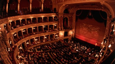PHOTO: Interior of State Opera House, Budapest, Hungary.
