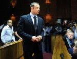 PHOTO: South African Olympic sprinter Oscar Pistorius appears at the Magistrate Court in Pretoria, South Africa, Feb. 22, 2013.