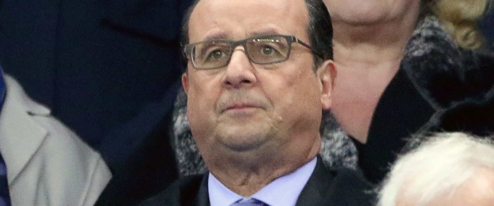 PHOTO: French President Francois Hollande attends the France v Germany International match at Stade de France on Nov. 13, 2015 in Paris.