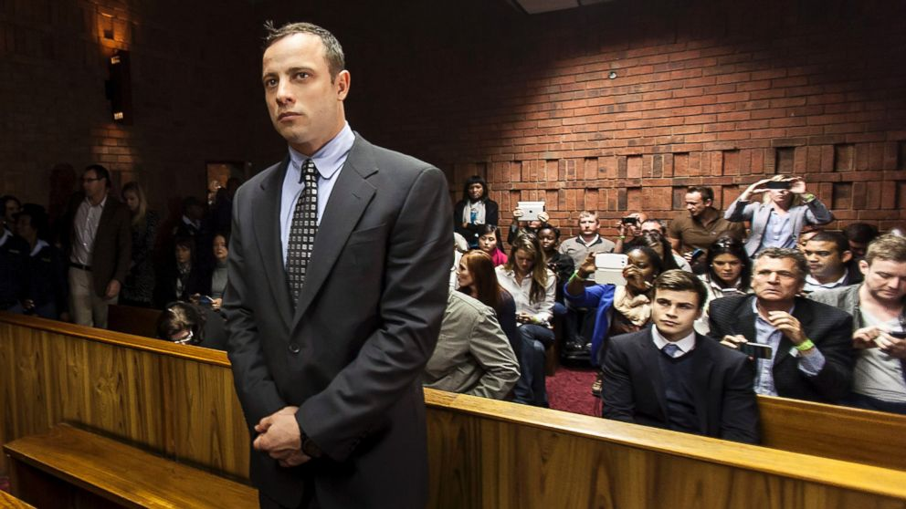 PHOTO: Oscar Pistorius appears in the Pretoria Magistrates court on June 4, 2013, in Pretoria, South Africa.