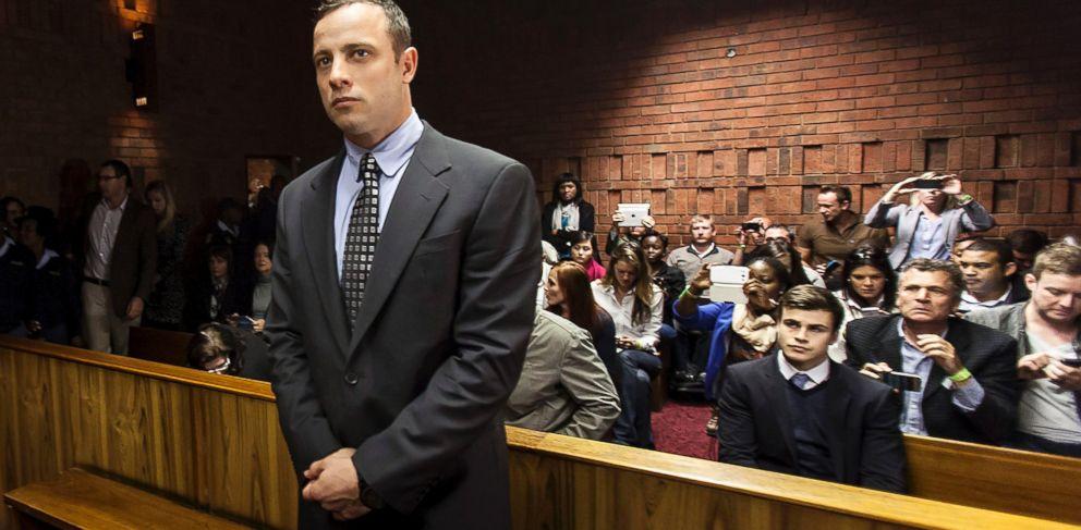 PHOTO: Oscar Pistorius appears in the Pretoria Magistrates court on June 4, 2013, in Pretoria, South Africa.