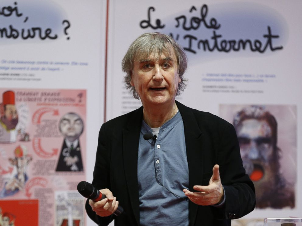 PHOTO: French cartoonist Plantu participates on Feb. 11, 2015 in a workshop with students in the Paris suburb of Malakoff.