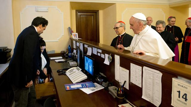 Pope Pays Hotel Bill Himself