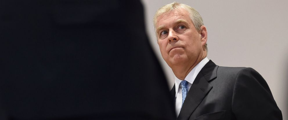 PHOTO: Prince Andrew, Duke of York, listens during a speech to guests inside the Herrenhausen Schloss in Hanover, Germany, June 4, 2014.