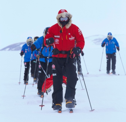 Happy Prince Harry Joins South Pole Challenge