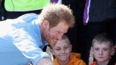 Prince Harry Greets Children in Scotland