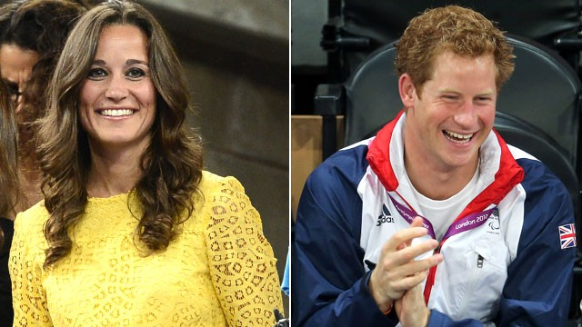 PHOTO: Pippa Middleton watches the  2012 US Open mens singles quarterfinal match in New York City, Sept. 5, 2012.  Prince Harry celebrates as Team GB scores as he attends the Goalball on day 6 of the London 2012 Paralympic Games, Sept. 4, 2012, in London