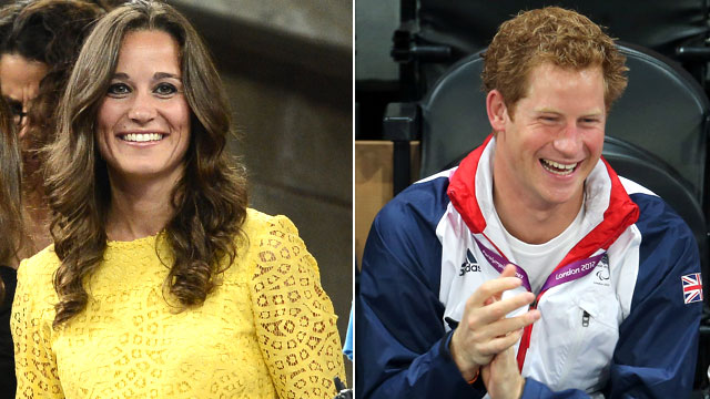 PHOTO: Pippa Middleton watches the 2012 US Open men's singles quarterfinal match in New York City, Sept. 5, 2012. Prince Harry celebrates as Team GB scores as he attends the Goalball on day 6 of the Lo