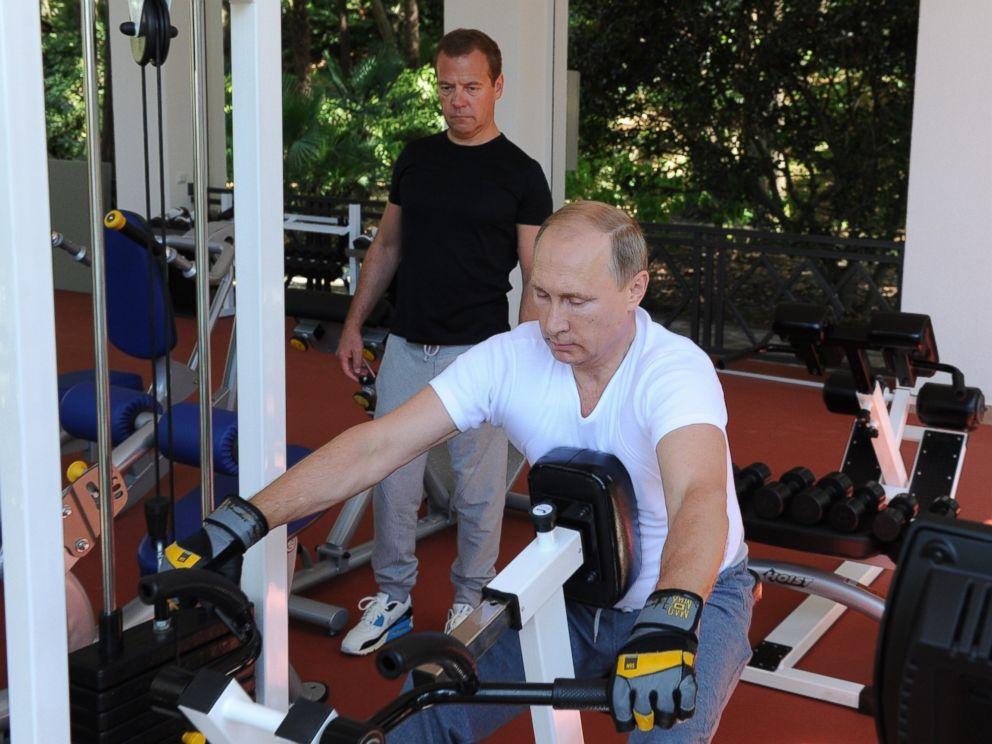 Russian President Vladimir Putin Pumps Iron, Grills in ...