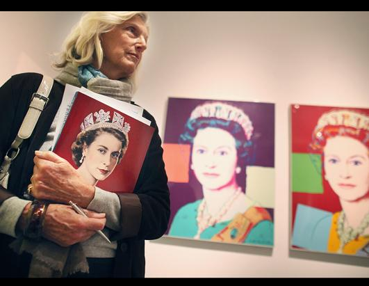 Art work featuring Queen Elizabeth II