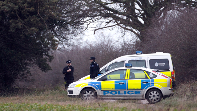 PHOTO: Police have launched an investigation after the remains were found by a walker in woods at the village of Anmer adjacent to the Queens Sandringham Estate.