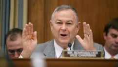 PHOTO: Rep. Dana Rohrabacher  questions witnesses from NASA, the Department of Defense and the White House during a hearing in the Rayburn House Office Building on Capitol Hill in a March 19, 2013 file photo in Washington, DC.