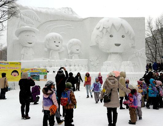 The Sapporo Snow and Ice Festival Begins