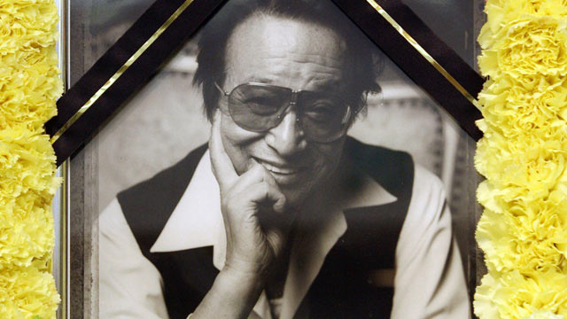 PHOTO: A portrait of South Korean film director Shin Sang-Ok is seen during his funeral in Seoul, April 12, 2006. Shin, who made movies for North Korean dictator Kim Jong-Il, has died at aged 80.