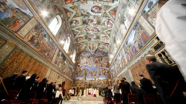 PHOTO: A general view of Michelangelo's Sistine Chapel on January 11, 2009 in Vatican City, Vatican.