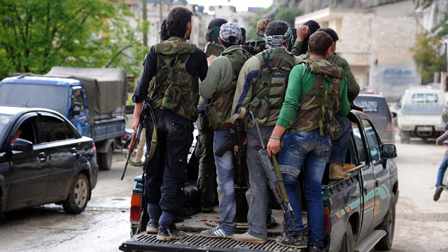 PHOTO: Free Syrian Army soldiers in Darkoush, Idlib Province, Syria in this on April 22, 2013 file photo.