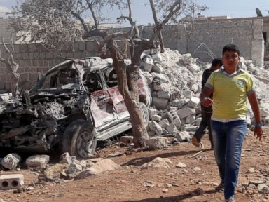 Photos:  Syrian Targets in the Aftermath of Coalition Airstrikes