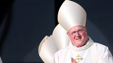 PHOTO: Archbishop of New York cardinal Timothy Dolan attends a canonisation ceremony held by Pope Benedict XVI, Oct. 21, 2012 in Vatican City.