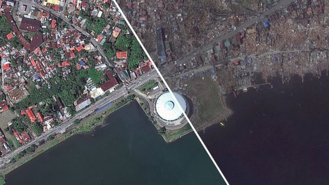 Typhoon haiyan before and after photos abc news