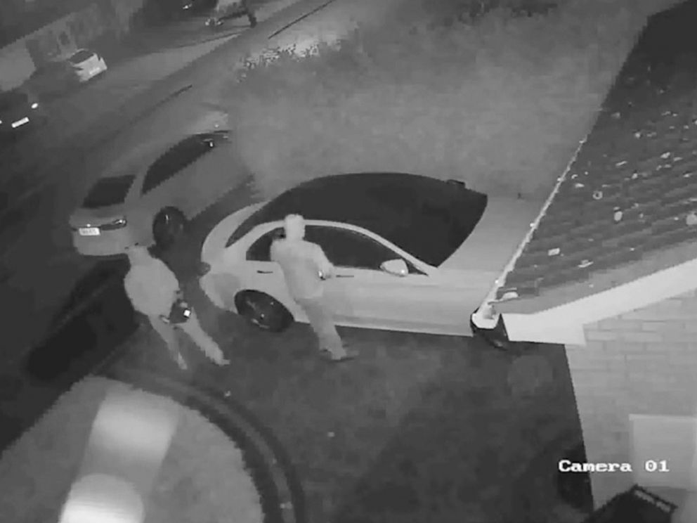 PHOTO: West Midlands Police Department in the United Kingdom released footage from a car robbery showing two men using relay devices in order to steal a car, Sept. 24, 2017.