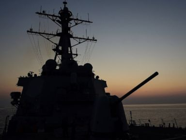 PHOTO: USS Ross (DDG 71) an Arleigh Burke-class guided-missile destroyer at sea in 2016.